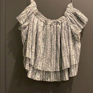 Zara lace off the shoulder crop top